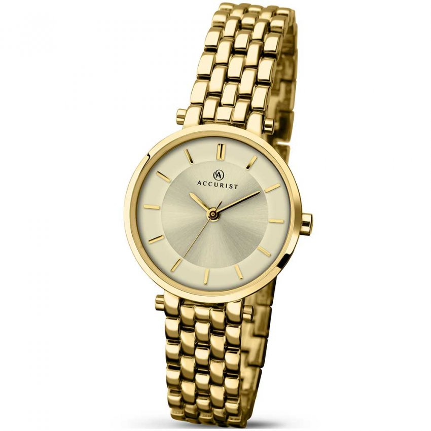 Accurist Ladies Classic Gold Plated Quartz Watch 8008