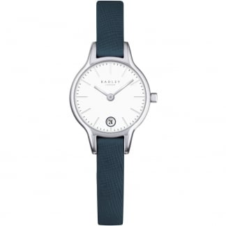 Ladies Grey Leather 'Long Acre' Watch