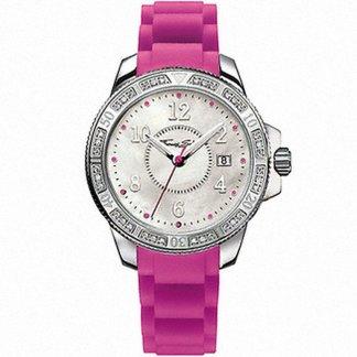 Ladies Hot Pink Rubber Glam & Soul Watch WA0116-235-202-38