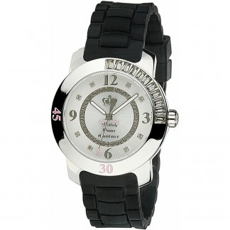 Ladies Black Rubber Strap BFF Watch 1900546