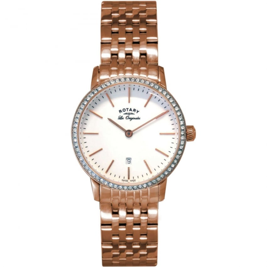 Rotary Ladies Kensington Rose Gold Les Originales Watch LB90054/02