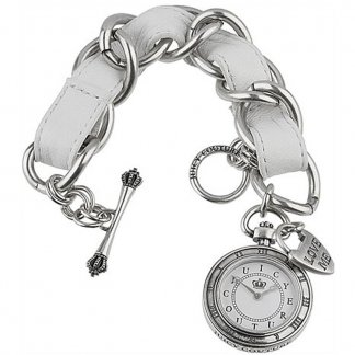 Ladies Leather & Steel Kiki Charm Watch 1900198