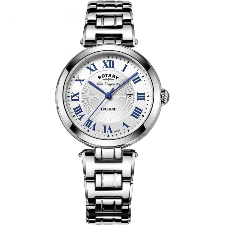 Rotary Ladies Lucerne Stainless Steel Quartz Watch LB90186/01/L