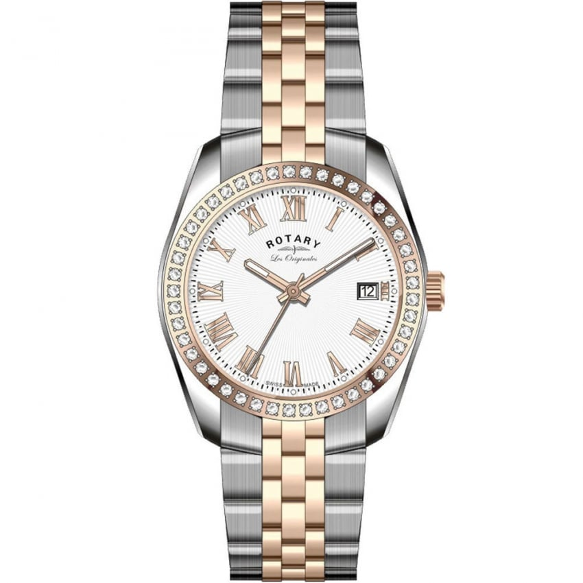 Ladies Lucerne Two Tone Stone Set Watch LB90111/01