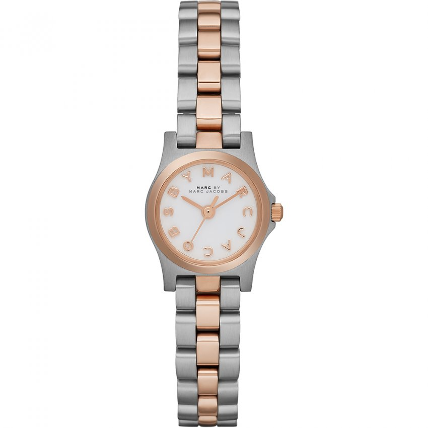 Marc Jacobs Ladies Two Tone Dinky Henry Watch MBM3261