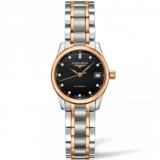 Ladies Master Diamond Set Steel & Rose Gold Watch