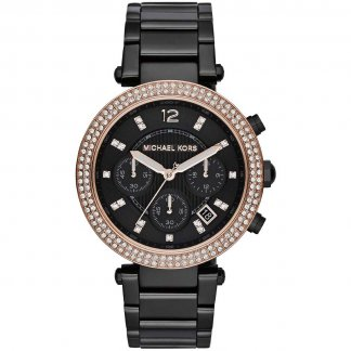Ladies Black Ion Plated Parker Watch MK5885