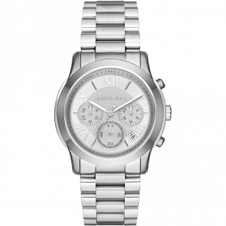 Ladies Cooper Silver Chronograph Watch MK6273