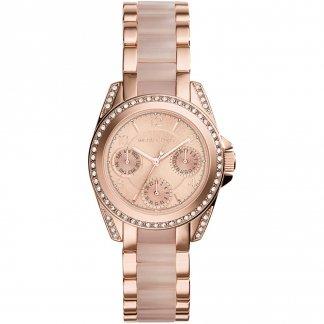 Ladies Mini Blair Rose Gold & Blush Watch MK6175