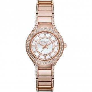 Ladies Mini Kerry Rose Gold Glitz Watch MK3443