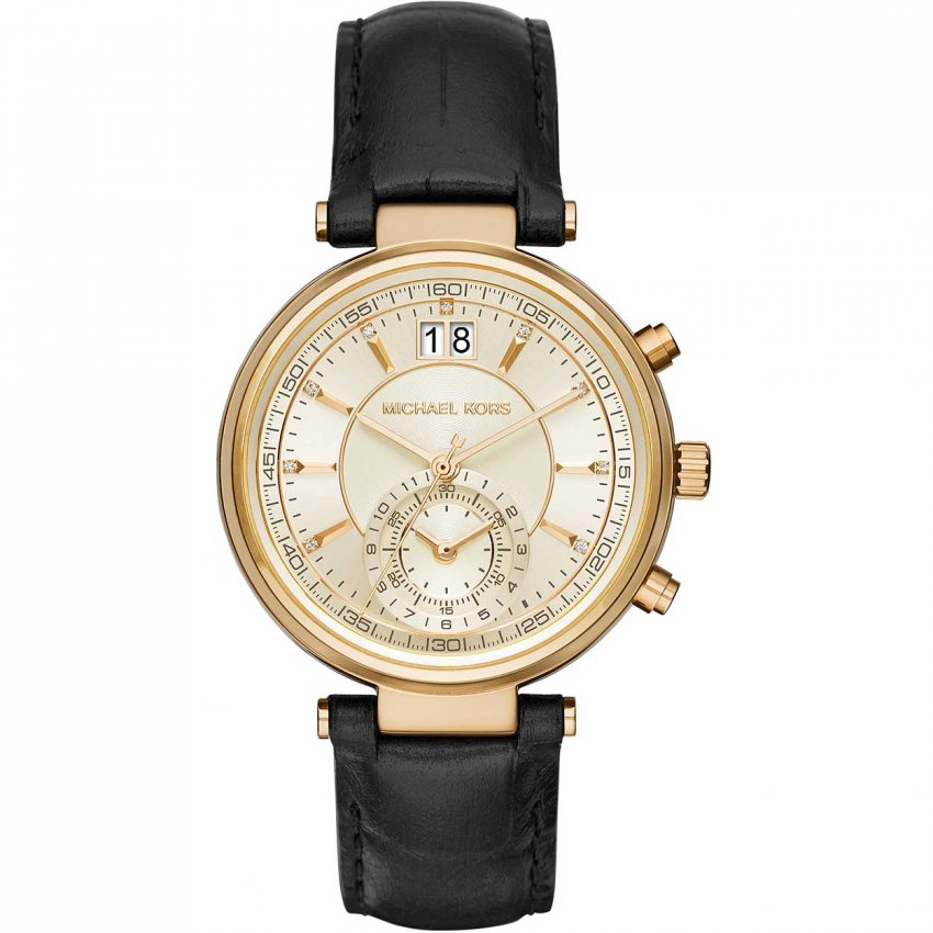 michael kors ladies sawyer chronograph watch watches from francis gaye jewellers uk. Black Bedroom Furniture Sets. Home Design Ideas
