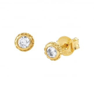 Ladies Mini Gold Bella Stud Earrings