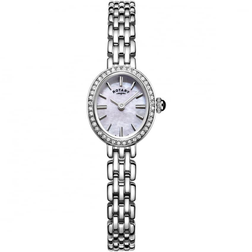Rotary Ladies Mother of Pearl Cocktail Dress Watch LB05050/07