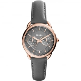 Ladies Multifunction Grey Strap Tailor Watch