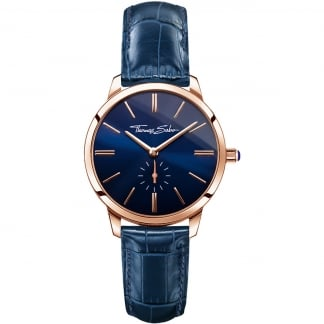 Ladies Navy Leather Eternal Glam and Soul Watch