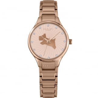 Ladies 'On The Run' Rose Gold Stone Set Watch