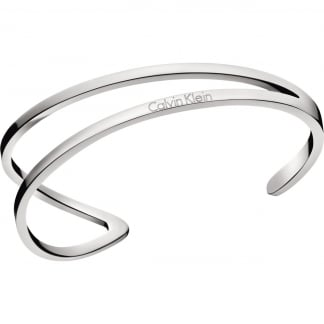 Ladies Outline Steel Bangle