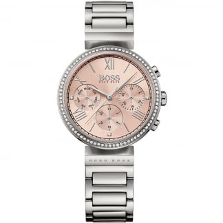 Ladies Pink Dial Classic Woman Sport Watch