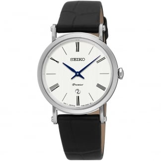 Ladies Premier Black Leather Quartz Watch