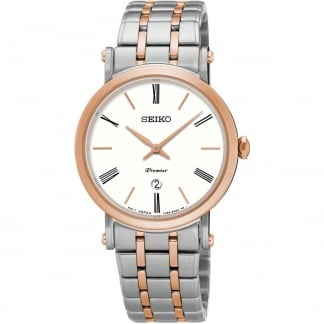 Ladies Premier Steel & Rose Bracelet Watch