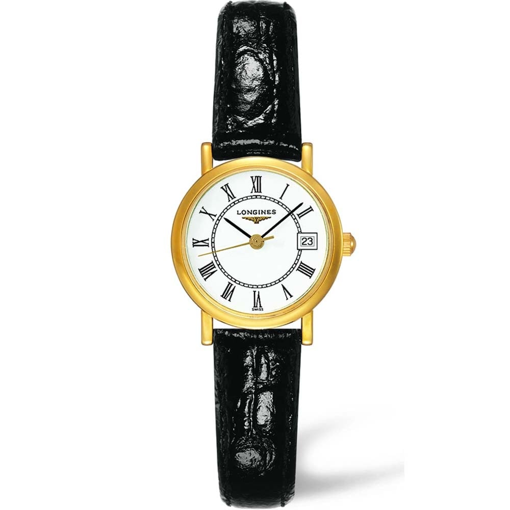 longines presence 18ct yellow gold quartz