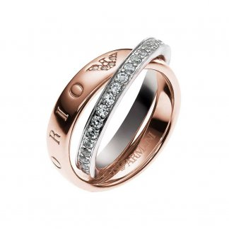 Ladies Pure Eagle Circles Two Tone Ring