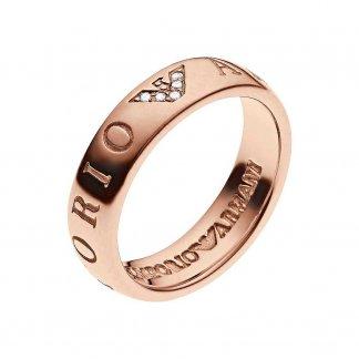 Ladies PVD Rose Plated Ring EG3146221