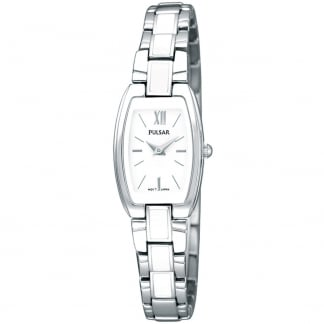 Ladies Quartz Bracelet Watch With White Inlays