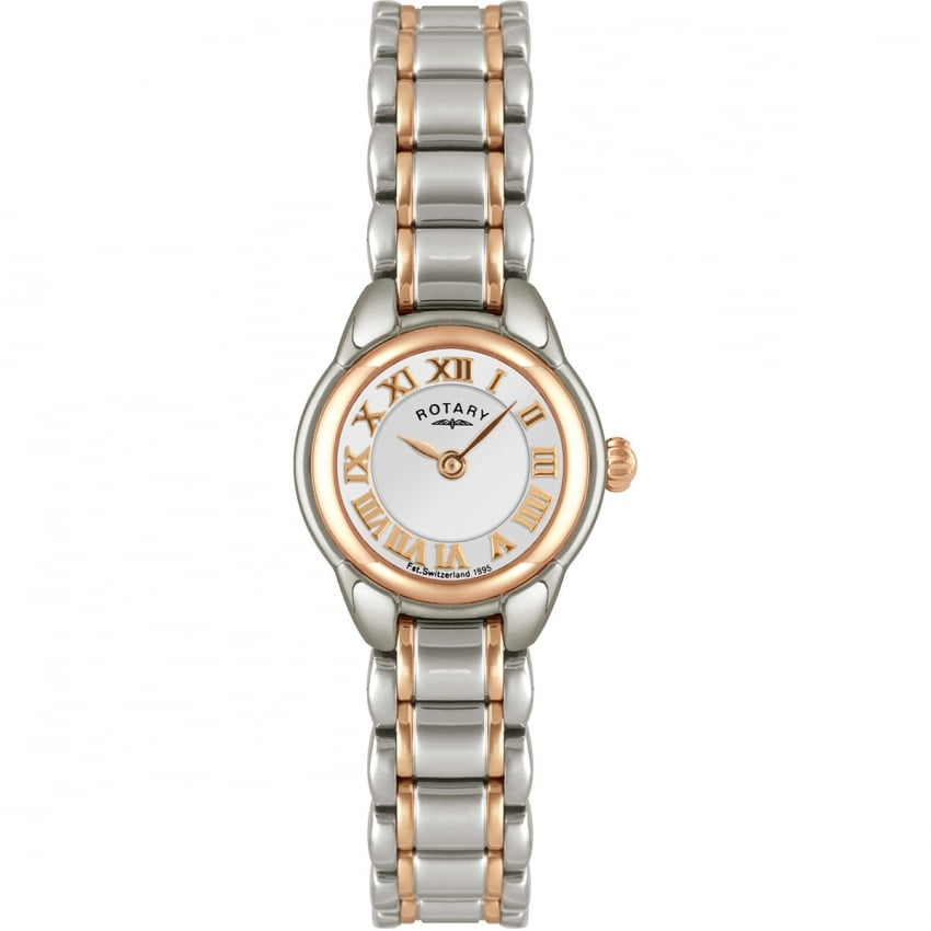 Rotary Ladies Quartz Steel & Rose Bracelet Watch LB02602/41