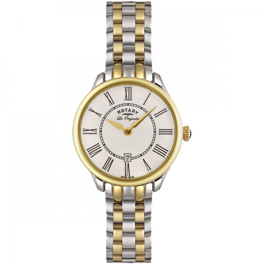 Rotary Ladies Quartz Two Tone Elise Watch LB02916/06