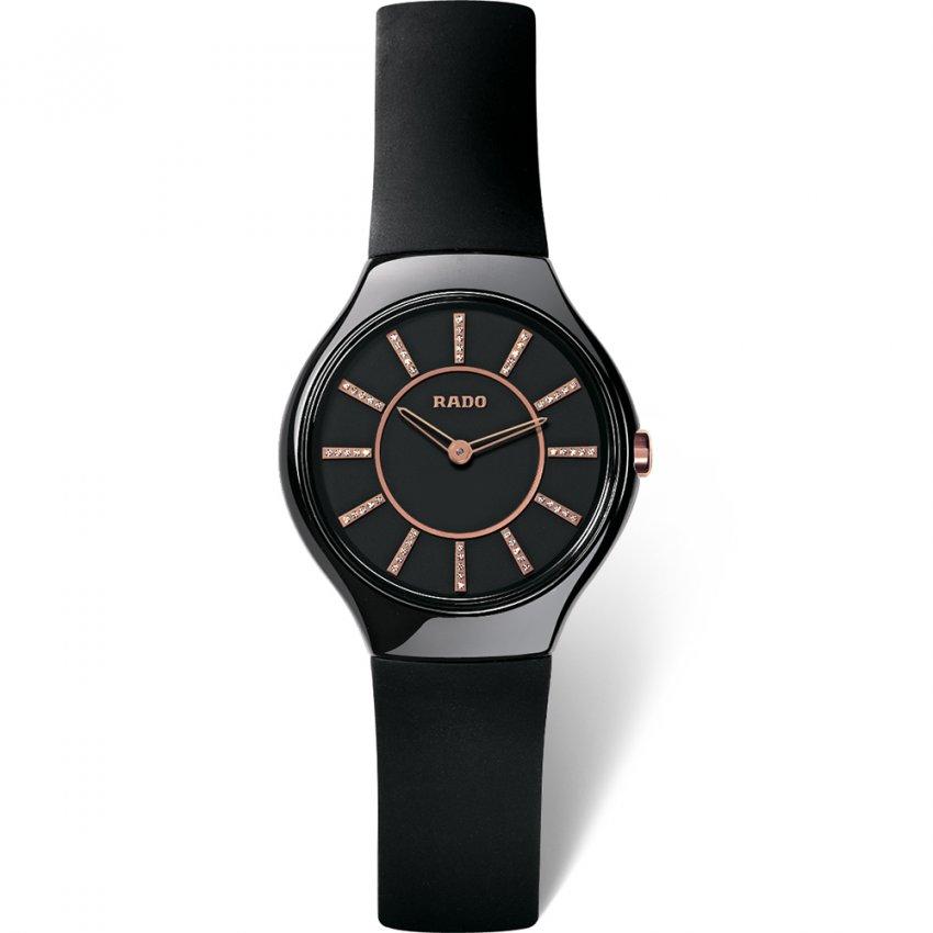 RADO Ladies True Thinline Jubile Rubber Strap Watch R27742709