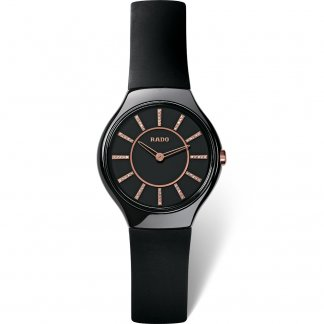 Ladies True Thinline Jubile Rubber Strap Watch