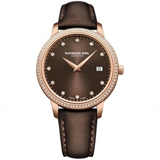 Ladies Rose Gold Diamond Set Toccata Strap Watch 5388-C5S-70081