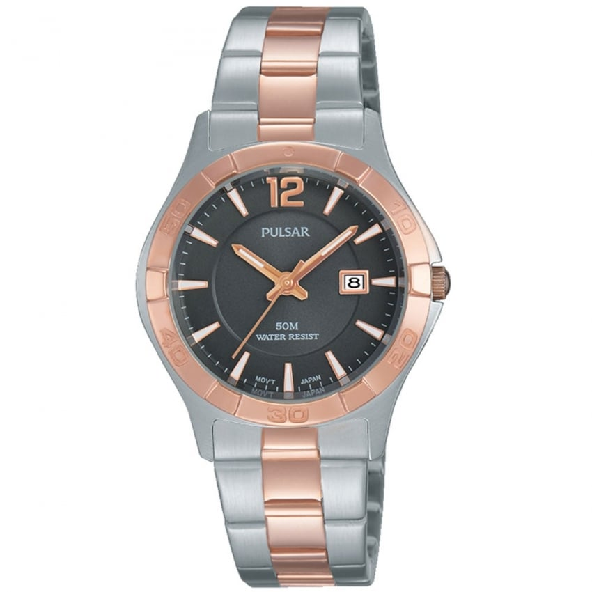 Ladies Rose Gold and Steel Grey Dial Watch PH7430X1