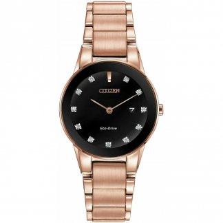 Ladies Rose Gold Axiom Black Diamond Dial Watch GA1058-59Q