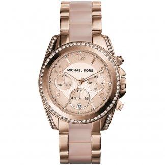 Ladies Rose Gold Coloured Blair Watch MK5943