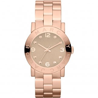 Ladies Rose Gold Amy Watch with Wheat Dial MBM3221