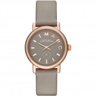 Ladies Rose Gold Finished Mini Baker Watch MBM1318