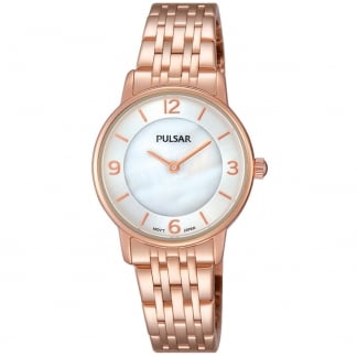 Ladies Rose Gold Mother of Pearl Dial Watch