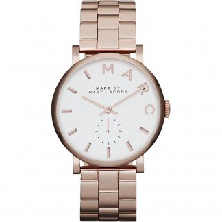 Ladies Rose Gold Plated Baker Watch