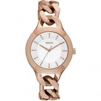 Ladies Rose Gold Plated Chambers Watch