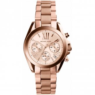 Ladies Rose Gold Plated Mini Bradshaw Watch MK5799