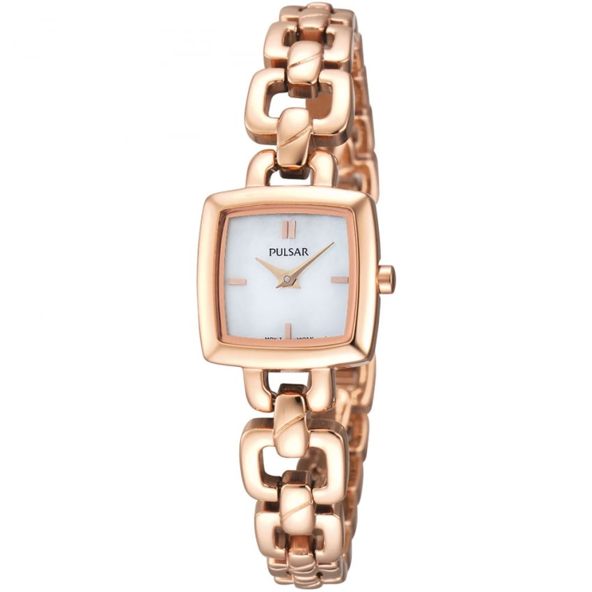 Pulsar Ladies Rose Gold Plated Slim Watch PEGG60X1