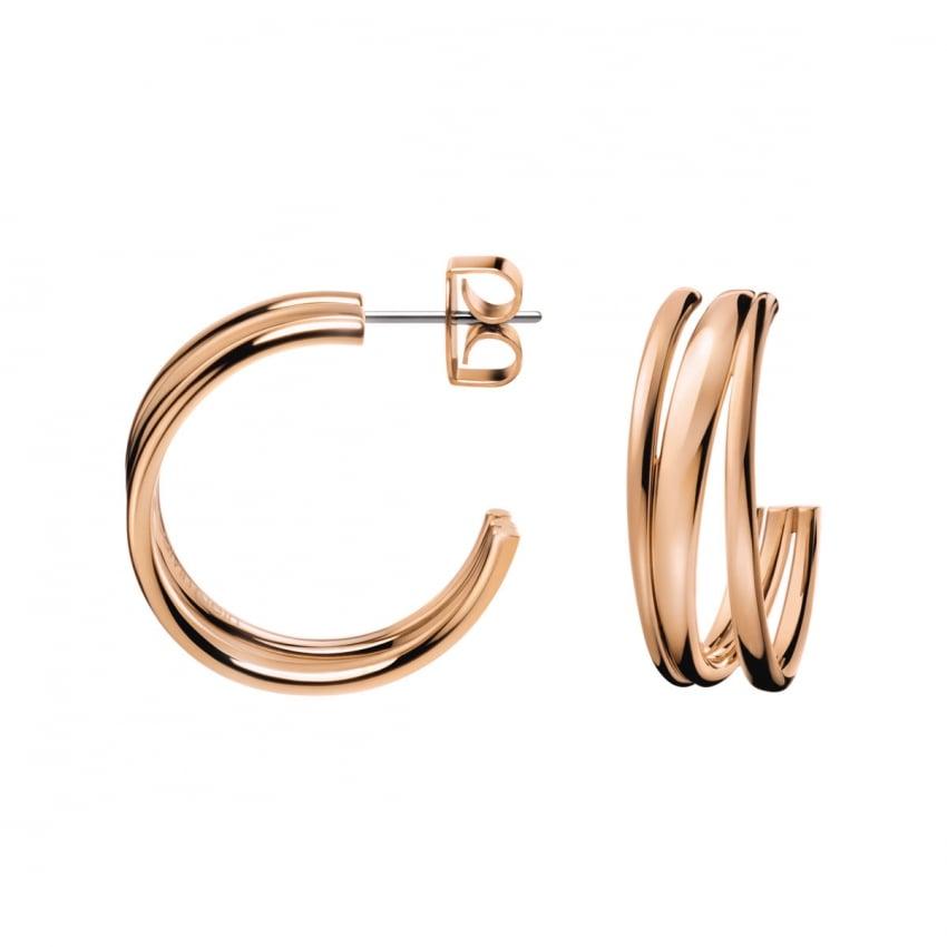 calvin klein ladies rose gold 39 sumptuous 39 earrings. Black Bedroom Furniture Sets. Home Design Ideas
