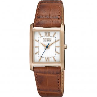 Ladies Rose Gold Tone Eco-Drive Watch EP5918-06A