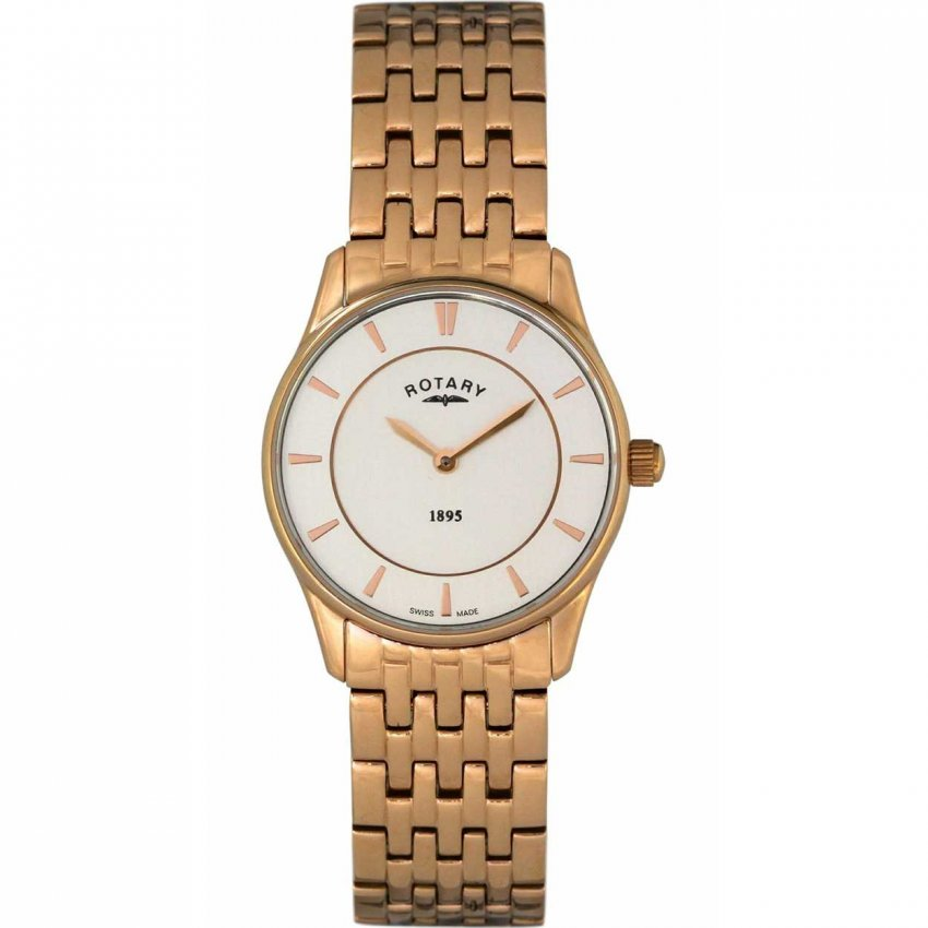 Rotary Ladies Rose Gold Ultra Slim Watch LB08204/02
