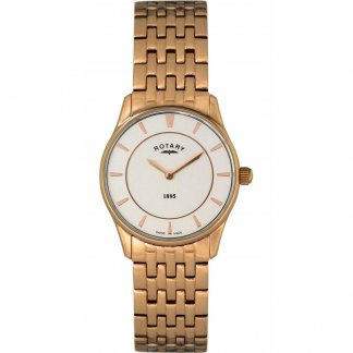 Ladies Rose Gold Ultra Slim Watch