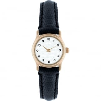 Ladies 9ct Gold Classic Strap Watch