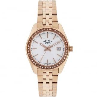 Ladies Lucerne Rose Gold Stone Set Watch