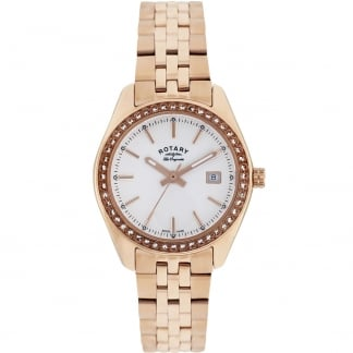 Ladies Lucerne Rose Gold Stone Set Watch LB90112/01